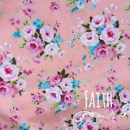 Faith - peach background - Dizzy Daisy - your Sunday best everyday