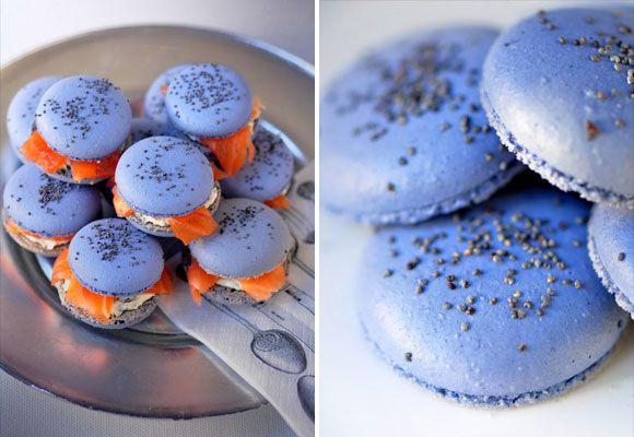 Blue Macarons Smoked Salmon