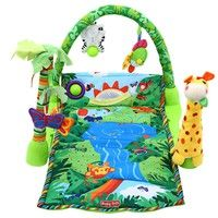 Wish | Rainforest Music Baby Play Soft Mat Activity Play Gym Toy (Color: Green)