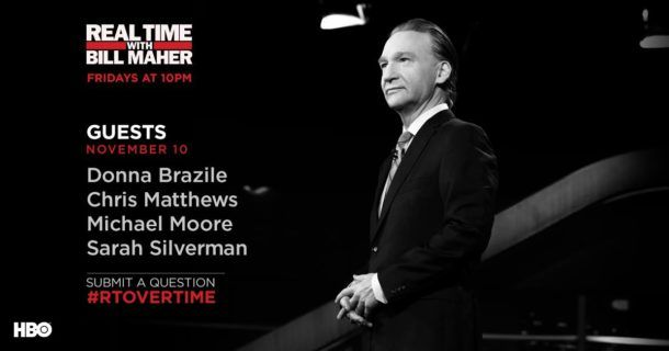 Don't miss 'Real Time with Bill Maher' tonight on HBO. #RealTime guests: Sarah Silverman, Michael Moore, Chris Matthews & Donna Brazile http://lenalamoray.com/2017/11/10/real-time-with-bill-maher-guests/