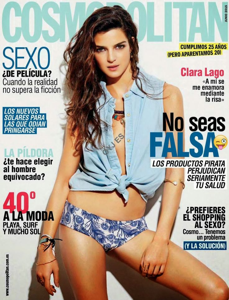 Actress @ Clara Lago - Cosmopolitan Spain, June 2015