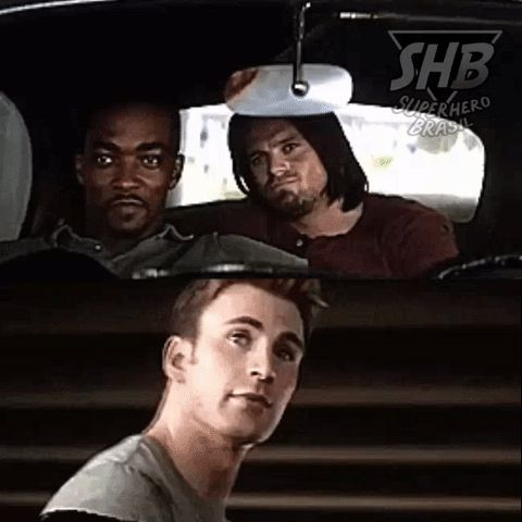 I love how Bucky is nodding like a proud brother and Steve is like all innocent and sh*t  xxx