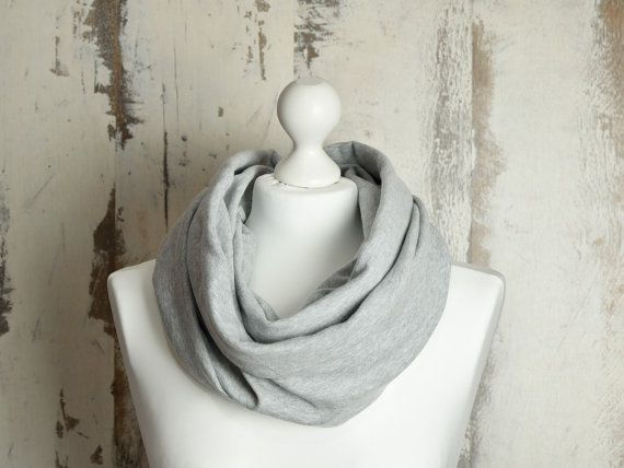 #Spring #Infinity #Scarf with Raw Edges, #Double-sided, #GreySnood, #Unisex #DoubleLoopShawl