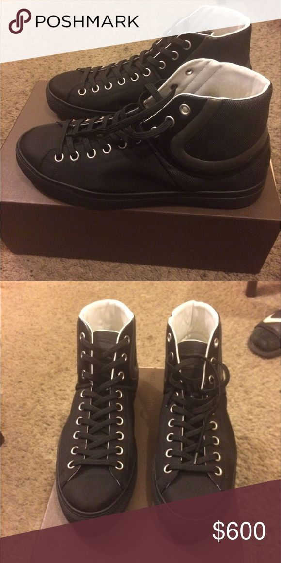 Louis Vuitton Men's Sneaker These shoes are authentic. I have multiple pairs on my page and have lost the receipts for some but I do still have some of them. They are in perfect condition. Either never worn or worn once. Each pair is a different price, so let me know which one you're interested in. Prices range from $600 and up. Each comes with original box, dust bags, etc. Louis Vuitton Shoes Sneakers