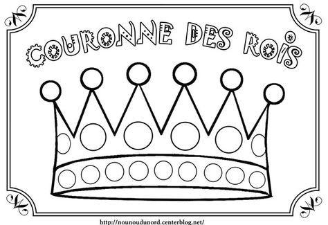 Coloriage la couronne des rois à gommettes
