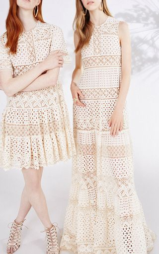 Broderie Anglaise and Guipure Maxi Dress by Elie Saab for Preorder on Moda Operandi : Obsessed with the long gown!!