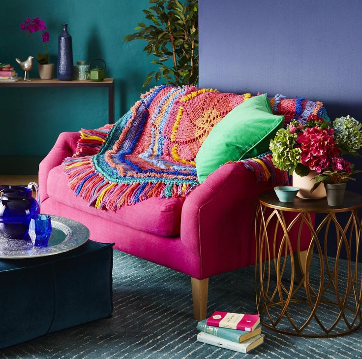 A bit of bold colour never hurt anyone, right? The 'Boho Chic' brights knit or crochet kit for this autumn is an absolute must!  Comes in wool or acrylic.