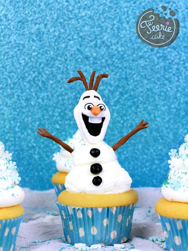 Des Cupcakes Olaf La Neige Cake Design La Reine Des Neiges Pinterest Cupcakes Olaf