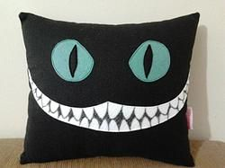 Handmade Tim Burton Cheshire Cat Alice in Wonderland Plush Pillow $24.95 http://www.rbitencourtusa.com/#!product/prd1/2685087661/handmade-tim-burton-cheshire-cat-pillow