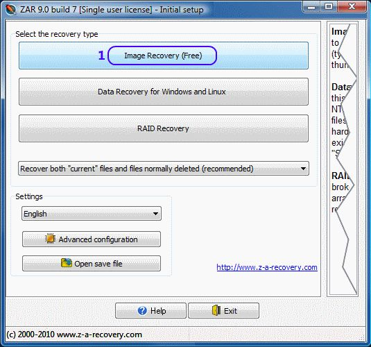 """You do not need a paid version of ZAR to do image recovery. This set of functions is provided free of charge. When you run it, ZAR displays the window like the one below: Digital image recovery - ZAR usage demo  Remember: ALWAYS """"copy"""" then verify NEVER """"move"""""""