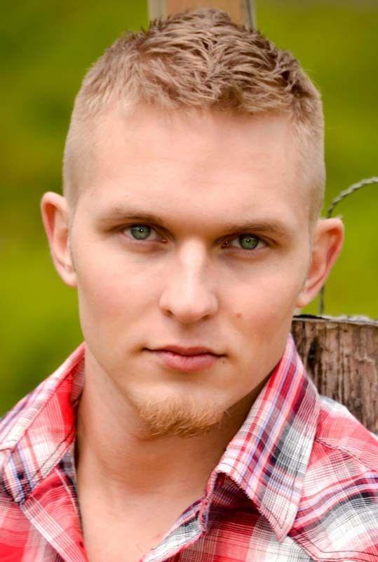 blond faux hawk haircut