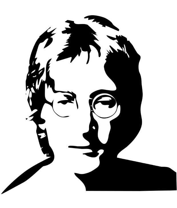 Line Drawing John Lennon : Best images about rock stars on pinterest kurt cobain