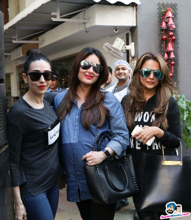 Stars Spotted 2016 -- Karisma Kapoor, Kareena Kapoor and Amrita Arora snapped at L Picture # 350726