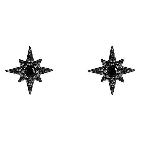 Buy Joma Shooting Star Stud Earrings, Black Online at johnlewis.com