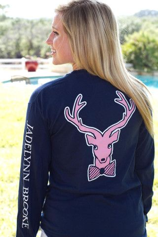 Jadelynn Brooke Big Happy - Navy - Long Sleeve