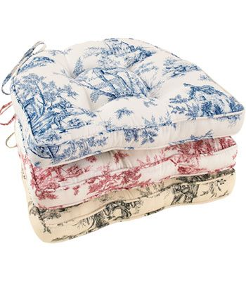 Toile Chair Cushions Pads And Lenoxdale Corded Cushion