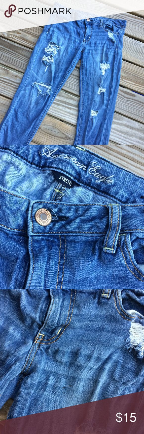 American Eagle Outfitters Medium Wash Super Stretch