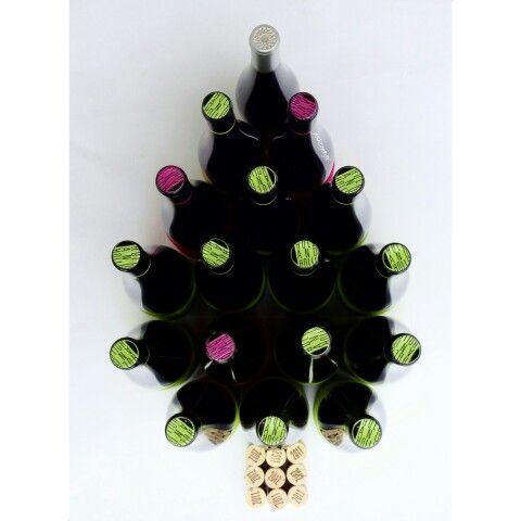 Wine bootle photo advent christmas minimal