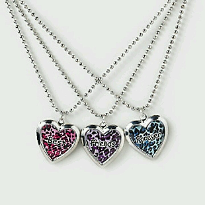 Best Friend Necklace For 3 My Style In 2018 Bff Necklaces