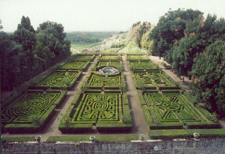 maze gardens at the Ruspoli castle, Vignanello Lazio