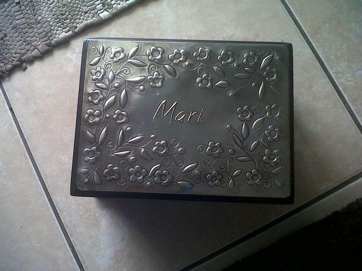 personalised pewter jewellery box