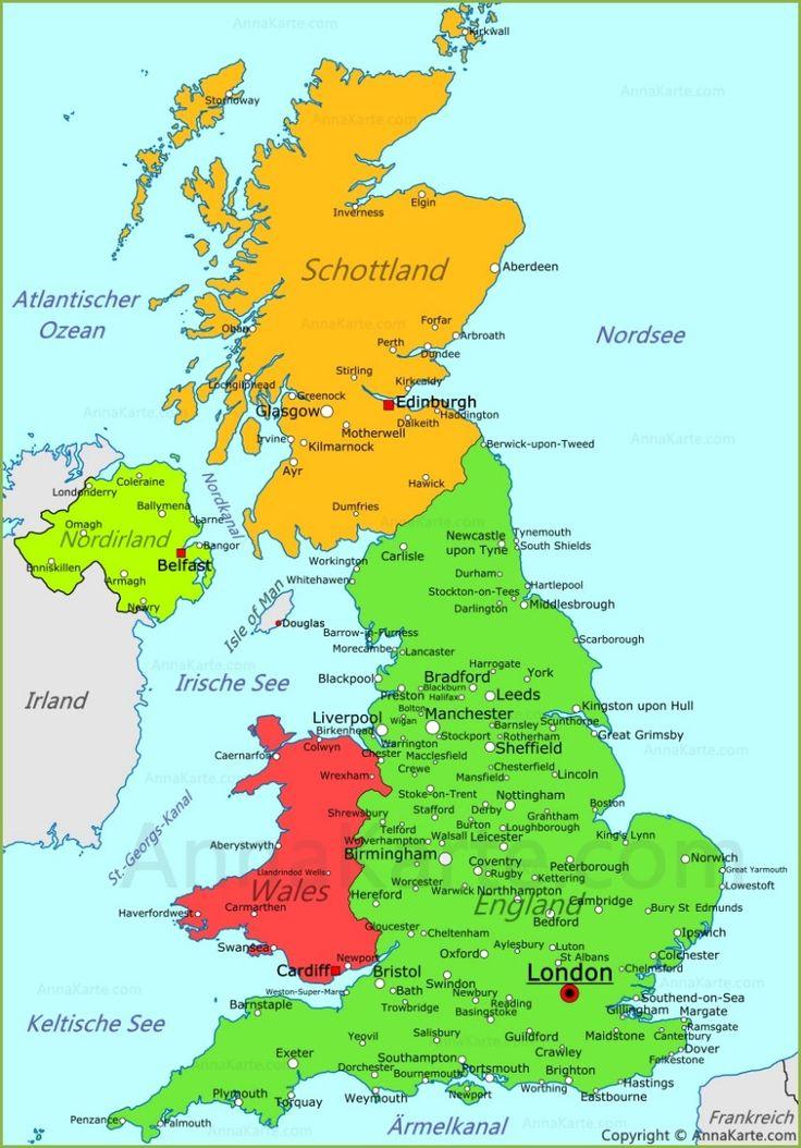 Vereinigtes Königreich Karte
