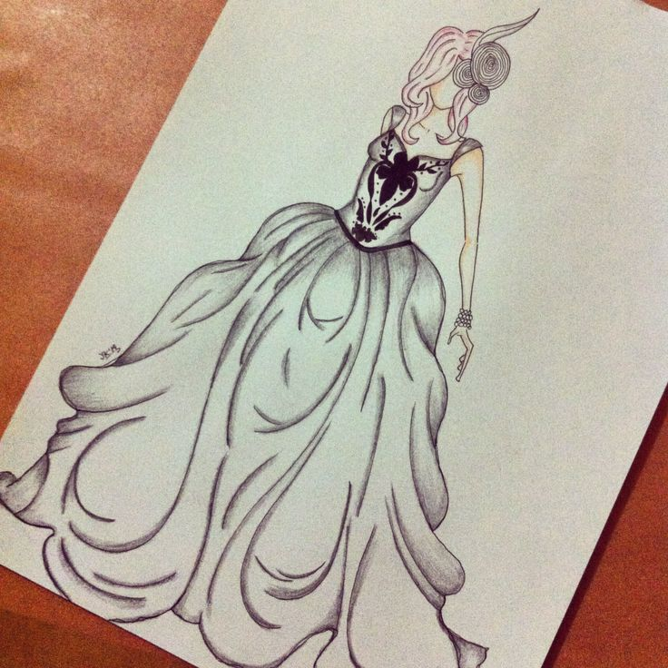 Fashion illustration (inspired by Marie Antoinette)
