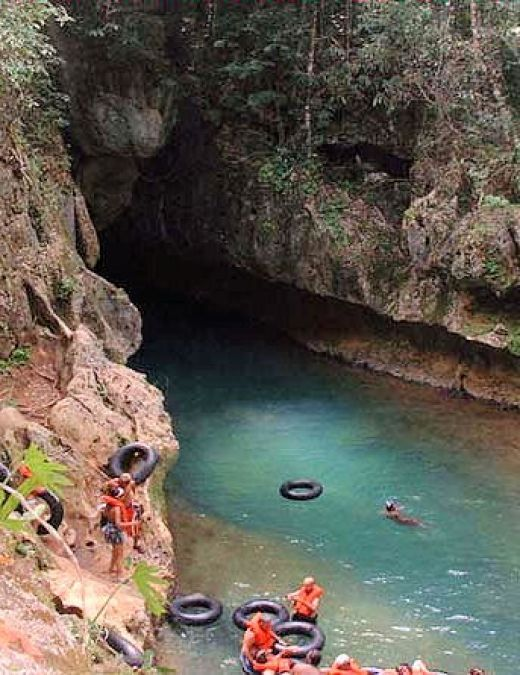 Cave tubing in Belize..