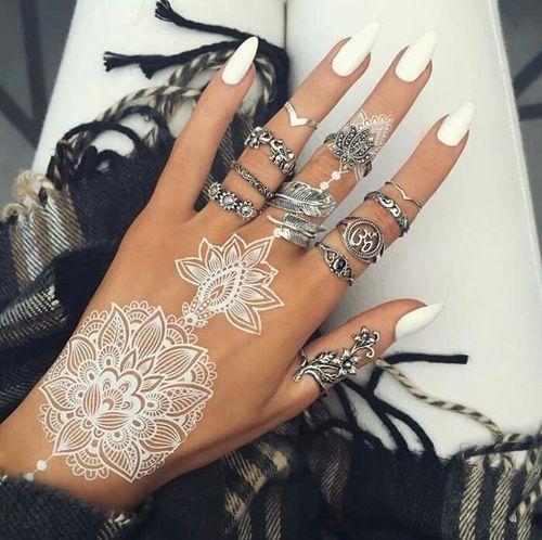 Best 25 white henna ideas on pinterest henna tattoos for White henna tattoo ink