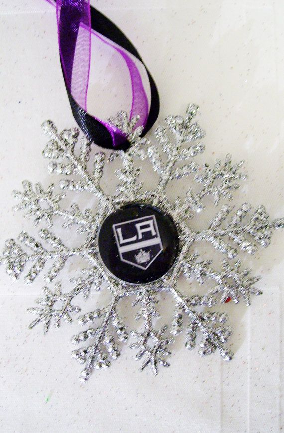 Los Angeles KINGS Hockey Fans Christmas Ornament  by ZZsTeamTime