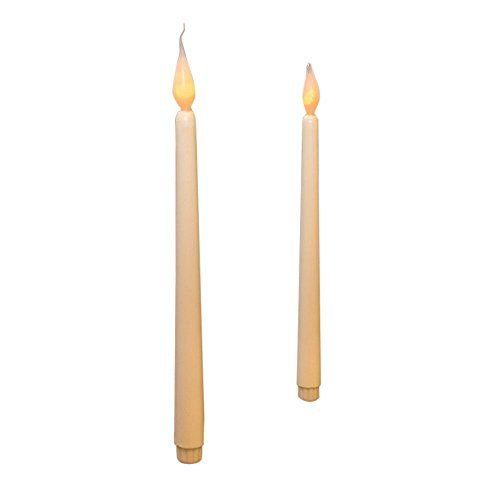 LED Taper Candle, 11 Inch Tall, White Tapered LED Candle Stick with Silicone Bulb, Timer Feature, Flameless, Battery Operated (Pack of 24)