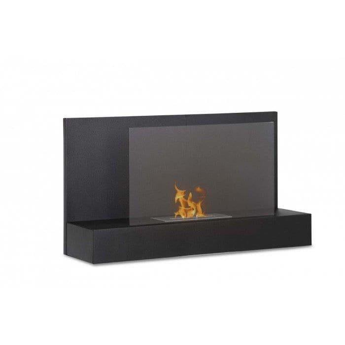 Ignis WMF-026 Ater BK Wall Mounted Ventless Ethanol Fireplace - Black (Glass)