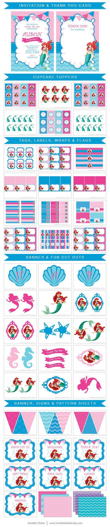 Little Mermaid Invitation Little Mermaid invite por GardellaGlobal