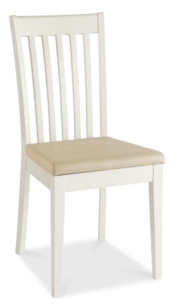 Shaker Two Tone Slatted Dining Chairs - Beige Seat Pad - Crafted from American White Oak solids and veneers. Easy self assembly with clear instructions and high quality fittings. Subtle lacquer finish.