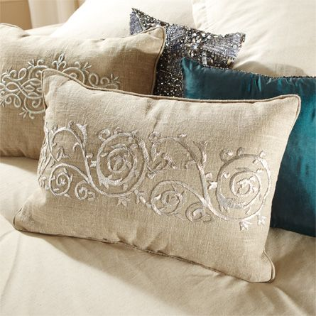 View the Paragon Large Zardozi Pillow from Arhaus. Paragon, defined as a model of excellence, perfectly describes this elegant collection. Our shimme