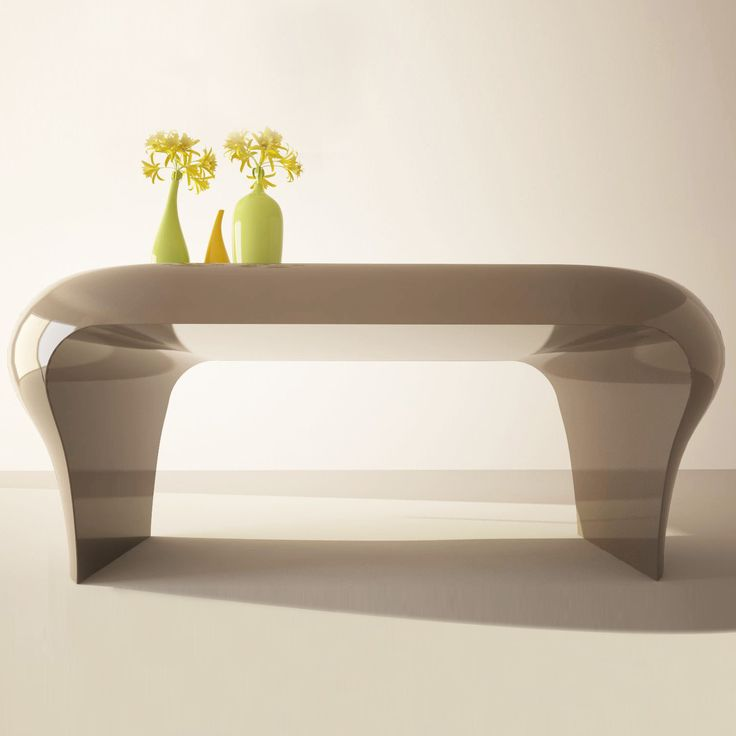 Original desk, has rounded shapes and beautifully designed to make your office or work space at the same time productive yet relaxing.     In addition, this design object can also be interpreted as a dining table.     FINISH GLOSS LACQUERED