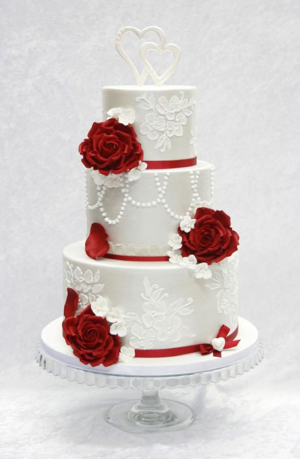 White and red wedding cake wedding cake flavors white to red wedding cake on cake central pin by miranda vm on modelos de tortas pinterest cake wedding cake and weddings junglespirit Gallery