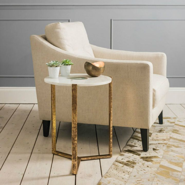40 best White and Gold Side Tables images on Pinterest Modern