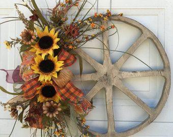 13 Best Wagon Wheel Wreaths Images On Pinterest Wagon