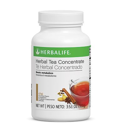 Herbal Tea Concentrate. Herbal Tea Concentrate contains caffeine which jump-starts your metabolism.