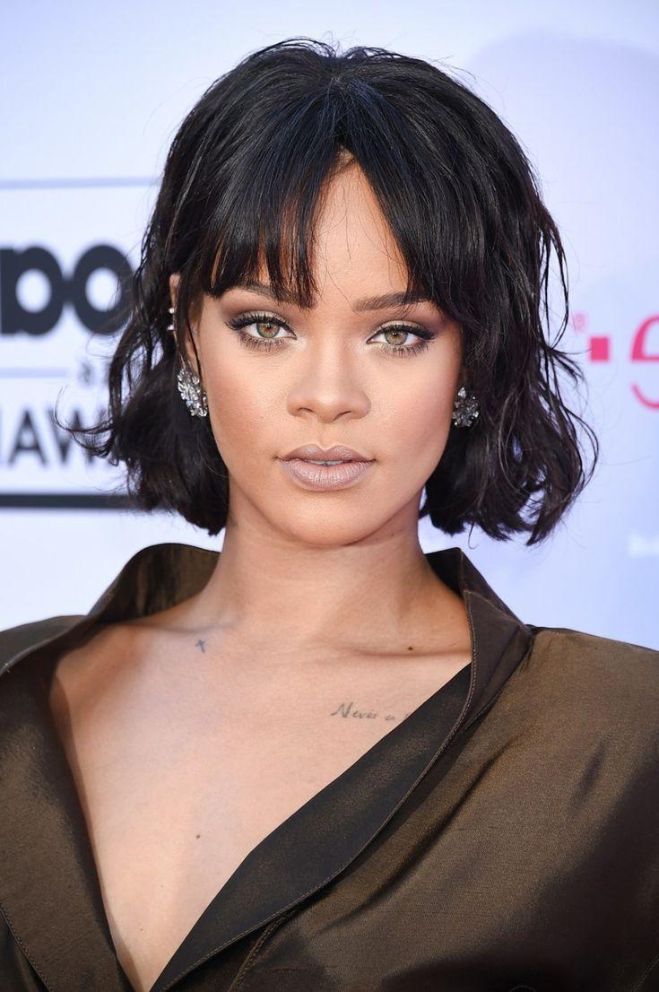 Long Bob mit geradem Pony Rihanna