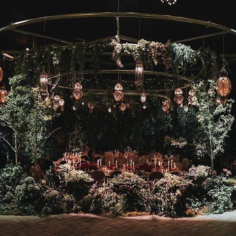 Here's an other-worldly event that we helped to create alongside The Design Depot, The Big Group and Cecilia Fox. Inspired by wild meadows and forest edges this setting came alive with exceptional teamwork and a whole lotta trees! Photo by Olivia and Thyme