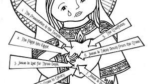 Image result for the 7 sorrows of mary colouring page