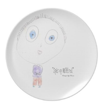 Plates with your own child's drawing