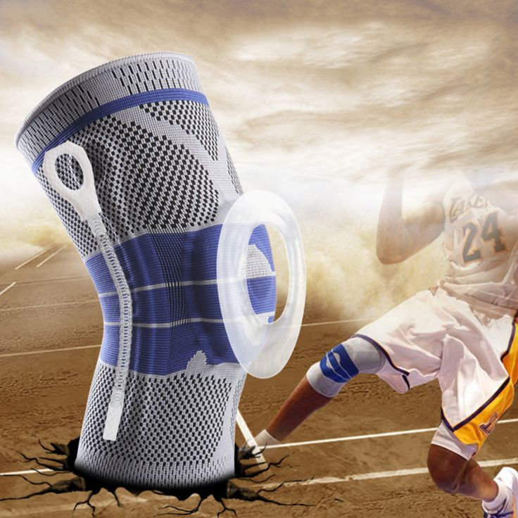 promo 1pie silicone kneepads sports training safety football basketball tape snowboard tactical knee #safety #training