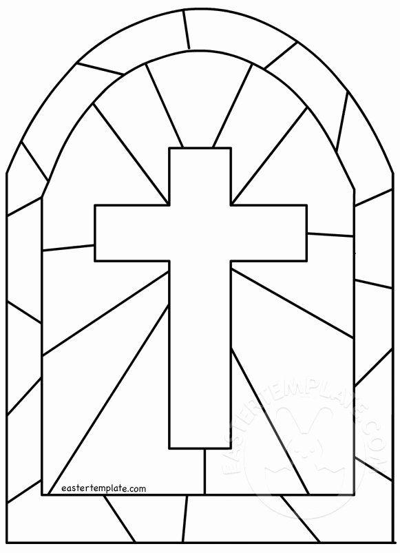 Cross Template Printable Free Inspirational Stained Glass Cross Template Stained Glass Patterns Free Stained Glass Mosaic Patterns Cross Coloring Page