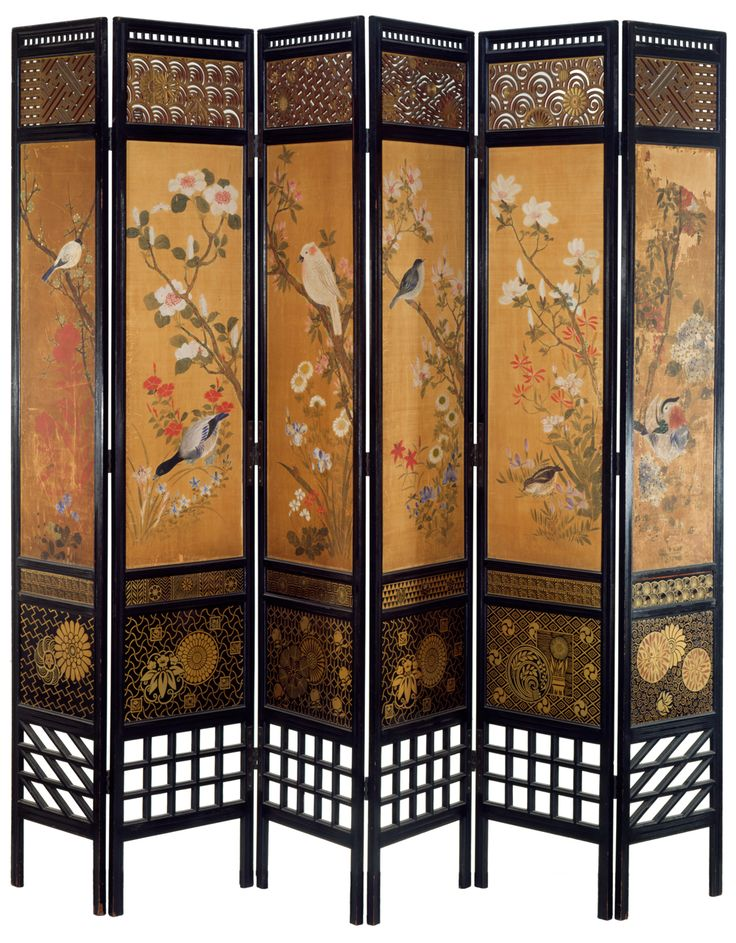 Furniture, : Awesome Ideas For Living Room Decoration Using 6 Panel Chinese  Gold Screen Room