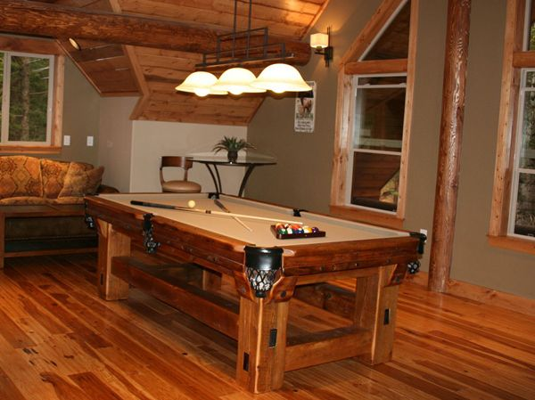 rec room furniture and games. rustic and timber frame pool tables game barnwood table ligths rec room furniture games