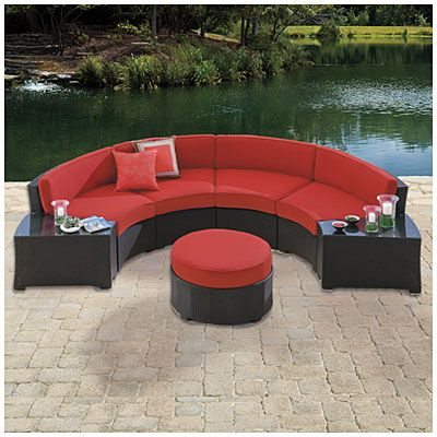 Wilson & Fisher® Melrose 5-Piece Cushioned Curved Sectional at Big Lots. - Images About Big Lots Furniture On Pinterest Geometric