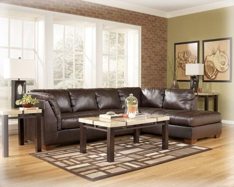 2-PC Sectional  in Durablend Mahogany, Logan Furniture, Boston MA | 5 Boston Massachusetts Area Furniture Store Locations